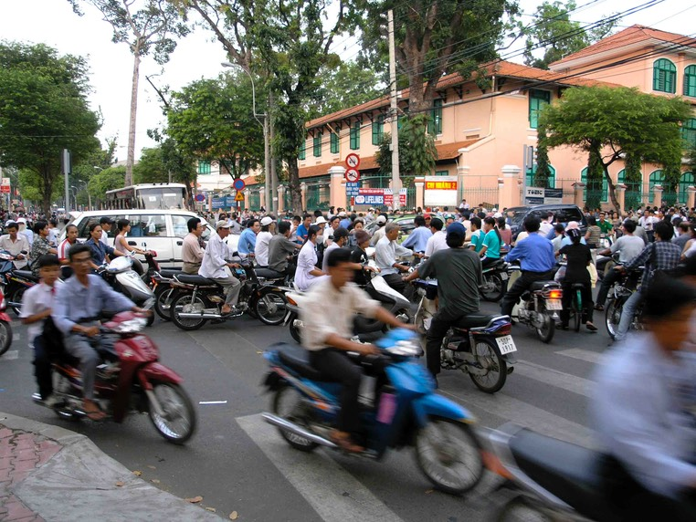 Saigon rush hour